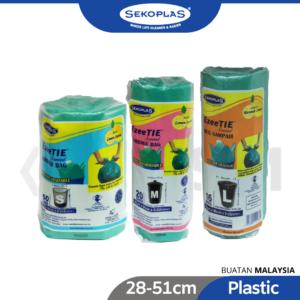 6100110163-Green Ezeetie Lemon Scented Photo-Degradable Garbage Bag Roll 50p [28-51cm] (1)