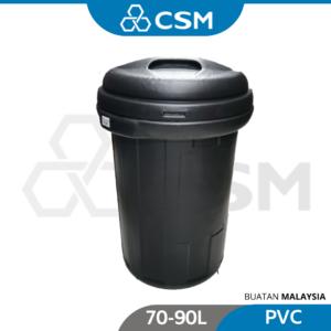 6110100342-Heavy Duty Black PVC Dustbin [70-90L] (1)