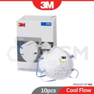 6030030077-3M-8822-P2-Particulate-Respirator-With-Cool-Flow-Valve-10pcs-Smoke-Dust-Haze-Face-Mask