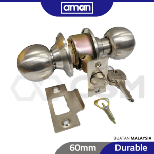 6080160714-AMAN 3995SS-60mm Store room Cylindrical Lock (1)