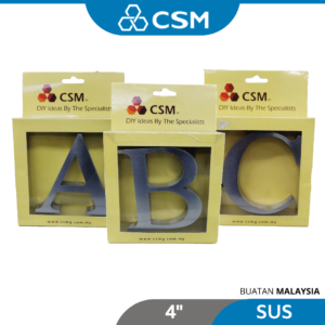 6110070158-CSM Nail Stainless Steel Alphabet Letter [4''] (10)