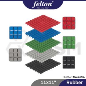 6110100321-FELTON TFM301 Floor Mat Black Blue Red Green Grey 6pcs [11x11in] (3)