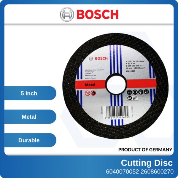 6040070052-5x3mm-Bosch-Cutting-Disc-125x3x22.2mm-2608600270