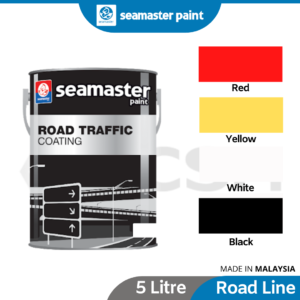 6070160040-SEAMASTER Road Line Paint Red Yellow Black White [5Litre] (1)