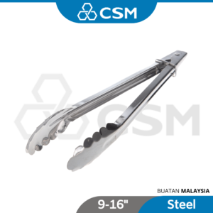 6110140027-CSM Stainless Steel Food Tong 9'' 12'' 14'' 16'' (1)