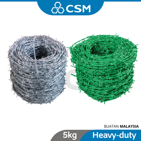6120140005-CSM 5kg GI Barbed Wire PVC_