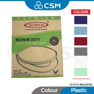 6150060174 - CSM TECHPLAS Medium Duty Plastic Toilet Seat Cover Colour White Red Blue Apple Green Light Soft Close Sky PVC_