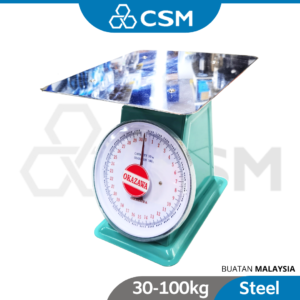 6020130271-CSM SP-30kg 50kg 60kg 100kg Flat Okazawa Dial Spring Scales Not For Business Used _