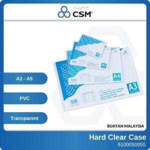 6100050055 - 297x420mm A3 210x297mm A4 148x210mm A5 Hard PVC Clear Case 9213 (1)