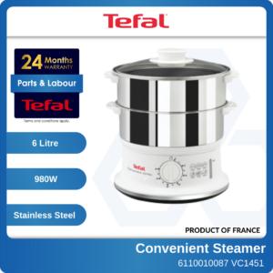 6110010087 TEFAL Stainless Steel Food Steamer VC-1451