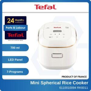 6110010094 RK6011 0.5L Tefal Mini Spherical Rice Cooker