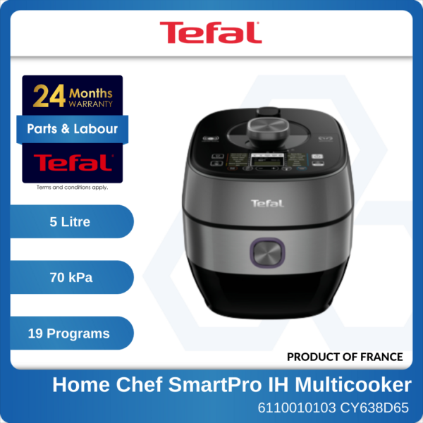 6110010103 - TEFAL CY638D CY638D65+K3028912 3p Home Chef SmartPro IH Multicooker + MasterSeal Set (1)