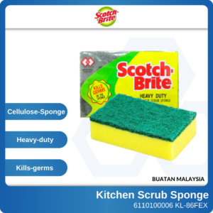 6110100006 - 425 KL-86FEX 3M Scotch Brite Heavy Duty Kitchen Scrub Sponge WN200054248 (1)