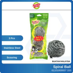6110100007 - 3p 333 Metallic 3M Scotch Brite Stainless Steel Spiral Ball XN009005945 (1)