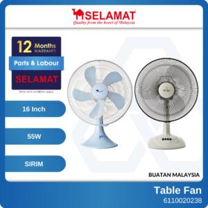 6110020035 - SELAMAT MQ-P16T 16 MQ-P316T Table Fan With 5 Blades